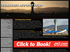 "The Edinburgh Airport Guide. Everything about Edinburgh Airport, featuring news and information, flight deals, a ""who flies where"" airlines and destinations list, airport parking, hotels and holidays."